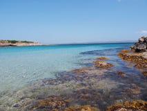 撒丁岛,意大利的海岸 库存图片