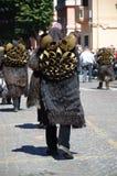 撒丁岛,意大利:Mamuthones 库存图片