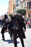 撒丁岛,意大利:Mamuthones 免版税库存图片