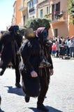 撒丁岛,意大利:Mamuthones 图库摄影