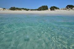 撒丁岛,意大利-波尔图Pino的海运 免版税库存照片