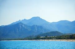 撒丁岛, Barisardo海滩 免版税库存照片
