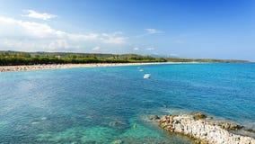 撒丁岛, Barisardo海滩 库存照片