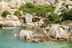 撒丁岛, Cala斯皮诺萨 免版税库存照片