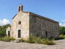 撒丁岛 中世纪教会 库存图片
