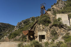 撒丁岛 圣路易矿 库存图片