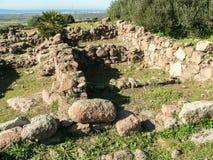 撒丁岛 Carbonia Monte Sirai 库存照片