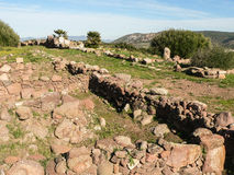 撒丁岛 Carbonia Monte Sirai 免版税库存图片