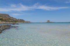 撒丁岛beautifl海岸 免版税库存图片