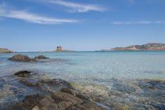撒丁岛beautifl海岸 库存照片