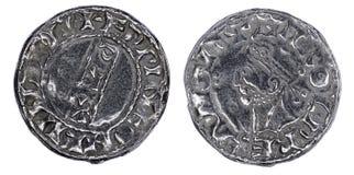 撒克逊人的便士硬币 图库摄影
