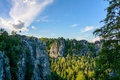 撒克逊人的瑞士国家公园,萨克森,德国 库存照片