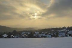 撒克逊人的瑞士在冬天 库存照片