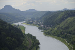 撒克逊人的瑞士 免版税库存图片