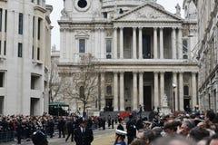 撒切尔男爵夫人的葬礼 免版税图库摄影