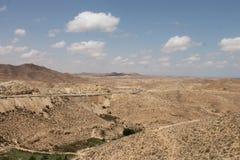 撒哈拉大沙漠突尼斯, Matmata是巴巴里人地区在南突尼斯 库存照片