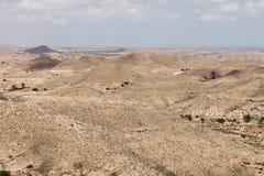 撒哈拉大沙漠突尼斯, Matmata是巴巴里人地区在南突尼斯 库存图片