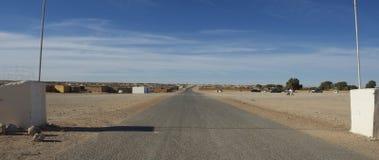 撒哈拉大沙漠街道 免版税库存照片
