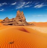 撒哈拉大沙漠,阿尔及利亚 免版税库存照片
