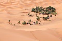 绿洲撒哈拉大沙漠 免版税库存图片