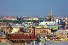 从以撒大教堂,圣彼得堡的鸟瞰图 库存照片