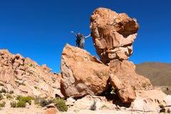 撒拉族de Uyuni沙漠 库存照片