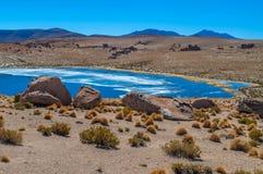 撒拉族de Uyuni 免版税库存图片