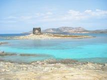 撒拉逊人塔在海岛 免版税库存图片