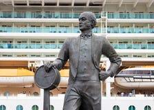 撒母耳丘纳德Statue先生 免版税库存图片