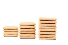 撒盐饼干作为梯子的苏打饼干。 库存照片