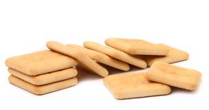 撒盐饼干苏打饼干。 免版税图库摄影