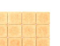 撒盐饼干苏打饼干背景。 免版税库存照片