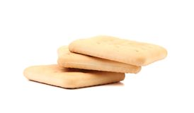撒盐饼干苏打饼干 免版税库存图片