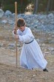 撒马利亚人Shavuot祈祷 库存照片