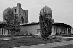 撒马而罕。Bibi-Khanym清真寺 库存照片