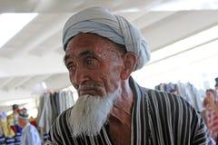 撒马而罕义卖市场,乌兹别克人人 免版税库存照片