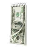 撕掉与美元钞票的日历 图库摄影
