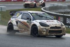 撕毁了Kristoffersen 巴塞罗那FIA世界Rallycross冠军 图库摄影