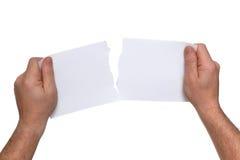 撕毁的纸 免版税库存照片