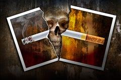 撕毁香烟照片 库存照片