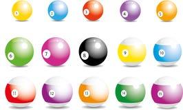 撞球 向量例证