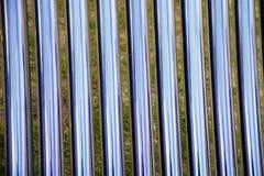 撤出的管太阳能集热器细节  免版税库存照片
