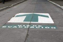 撤离路线签到Banos,厄瓜多尔 图库摄影