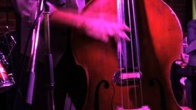 播放低音提琴的人, 股票视频
