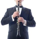 播放单簧管 免版税库存图片