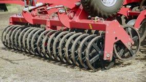 播种机器 种田农业 种植播种机弹簧的农业机械 农村种田 股票视频