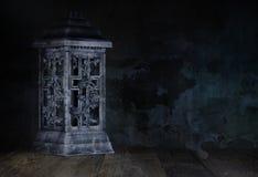 播种被扩大的火光灵活性光晕月光奥秘影子蜘蛛网的大明亮的铸件古怪 图库摄影