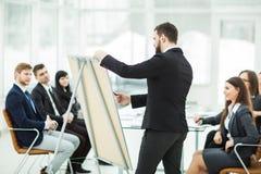 撰稿人公司做介绍企业队的队员的一个新的广告项目 库存照片