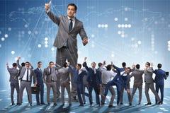 操作他的企业概念的上司雇员职员 免版税库存图片