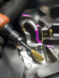 操作员用途碳化物毛刺研的模子 图库摄影